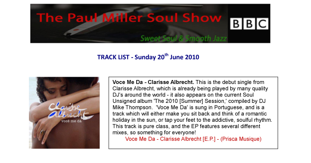 The Paul Miller Soul Show @ BBC (UK)