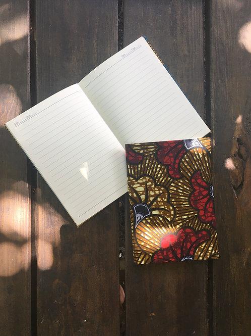 Flor de Matrimonio - Marrón & Rojo - Cuaderno Mediano