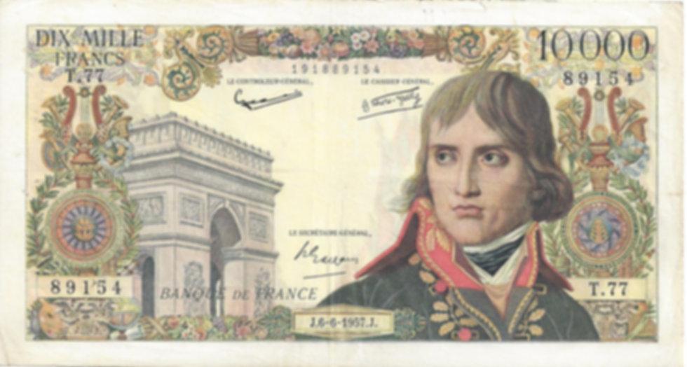 Recto 10000 francs Bonaparte 6-6-1957.jp