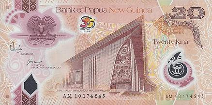 Papouasie Nouvelle Guinée 20PGK AG 10174