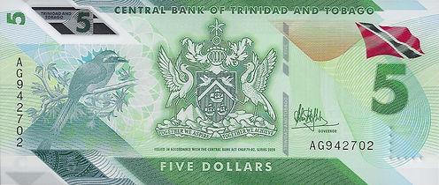 Trinidad et Tobago 5TTD 2020 AG942702 R.