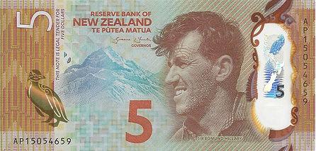 Nouvelle Zélande 5Dollars 2015