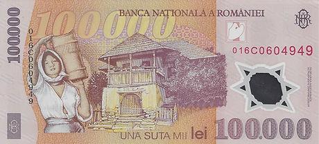 Roumanie 100000LEI  2001 016C0604949 V.j