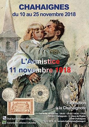 Affiche Expo Armistice 2018 Chahaignes1.