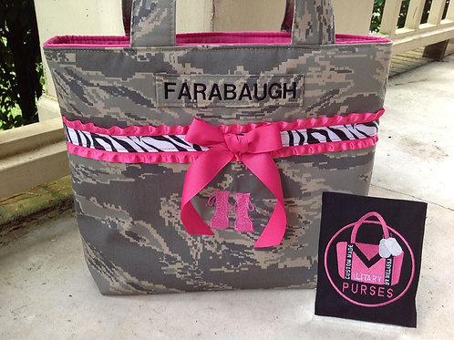 #1 Ruffles and Boots Tote - All Camo Types
