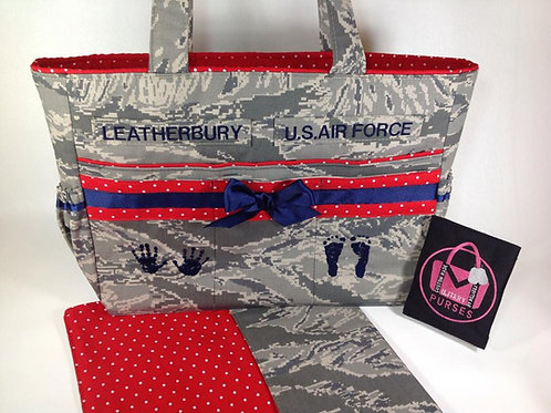 Deluxe Diaper Bag W/ Matching Changing Pad