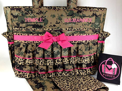Deluxe Ruffled Diaper Bag - All Camo Types