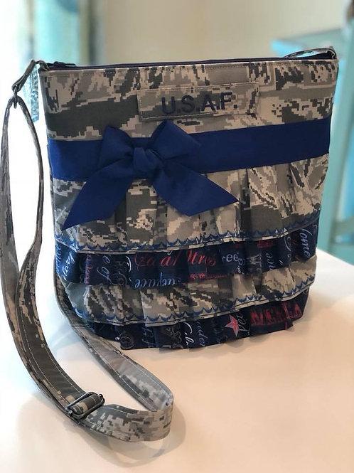 Mini Ruffle Air Force Crossbody Bag