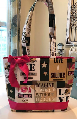 Ready To Ship Love a Soldier Handbag! $39 Plus Shipping!