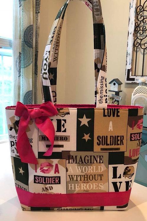 Ready To Ship Love a Soldier Handbag! $39 Plus Shipping!