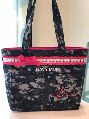 Ready to Ship Navy Double Pocket Tote $34 Plus Shipping!