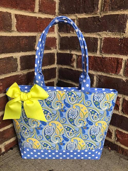 Blue & Yellow Paisley RTS Handbag