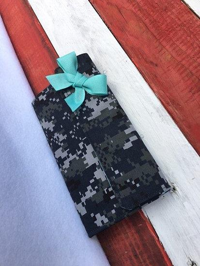 Military Camo Deluxe Zipper Wallet