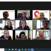 תמונת זום מאחת מקבוצות המיקוד- ריבועים ובהם פנים של המשתתפים
