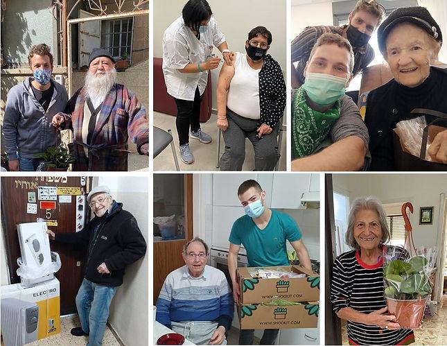 מתנדבים מעניקים שי לקשישים