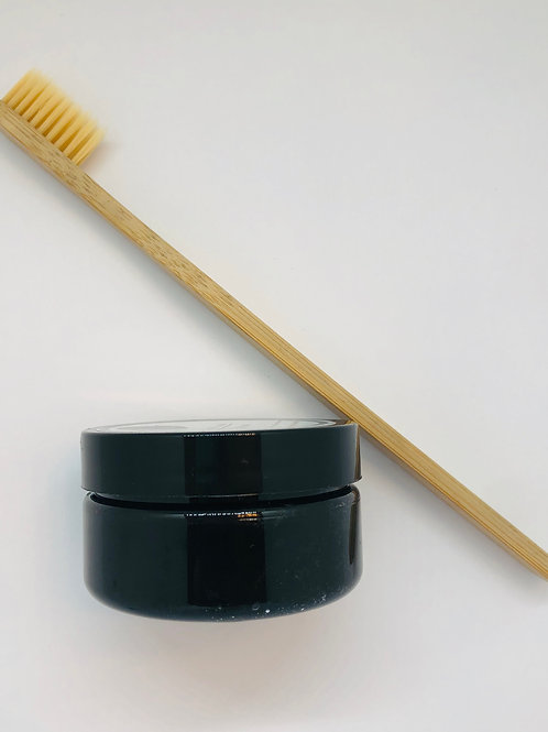 Activated Charcoal Toothpaste & Bamboo Toothbrush Combo