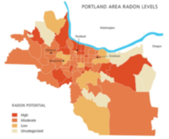 PDX HIVE Portland radon map