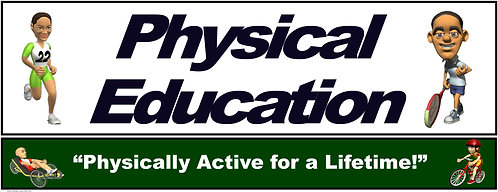 PE Over the Door Banner (Upper Grades): Physically Active for a Lifetime