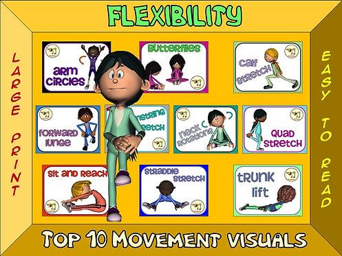 Flexibility- Top 10 Movement Visuals- Simple Large Print Design