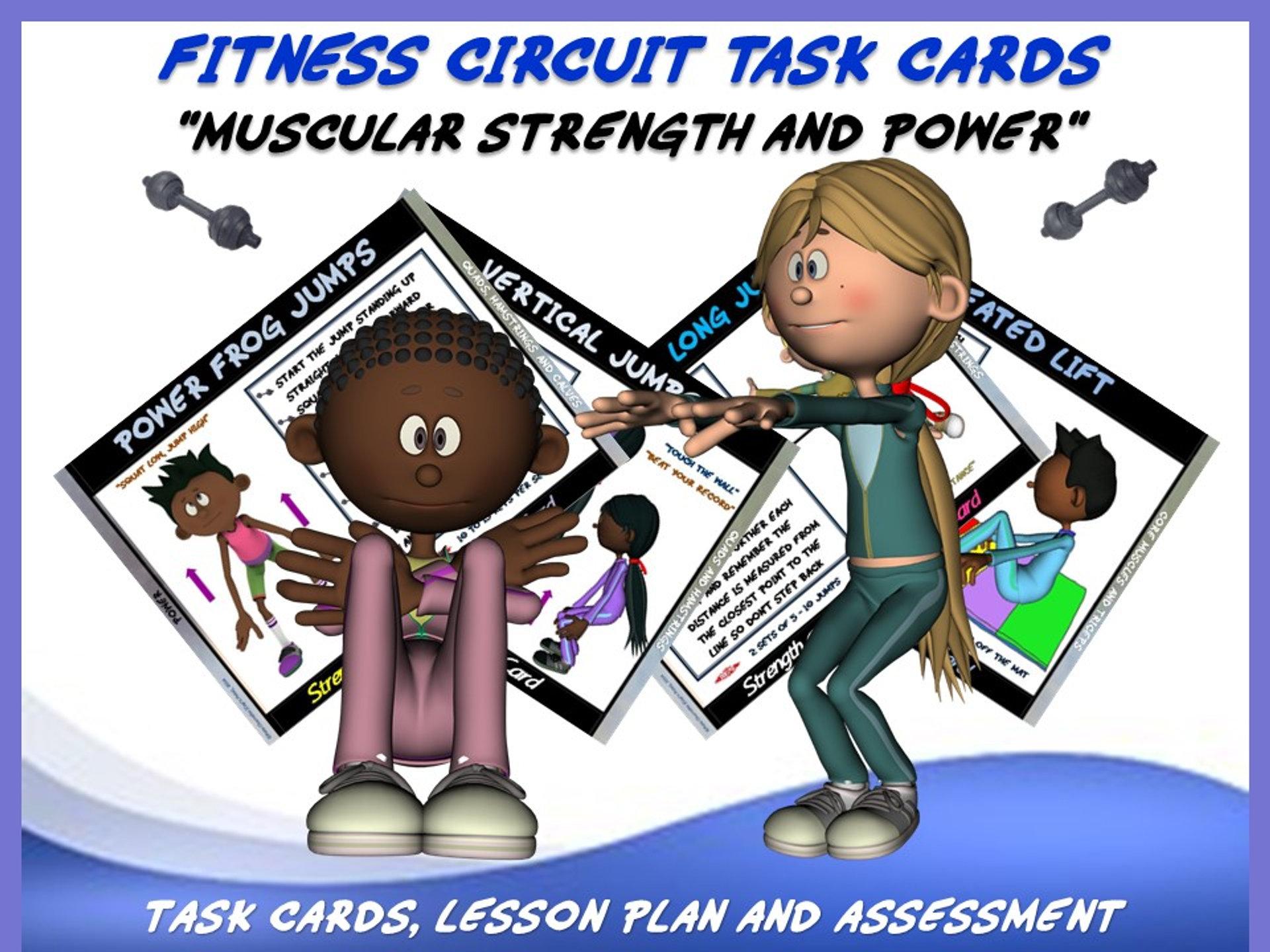 "Fitness Circuit Task Cards Mega Bundle: ""Health and Skill ..."