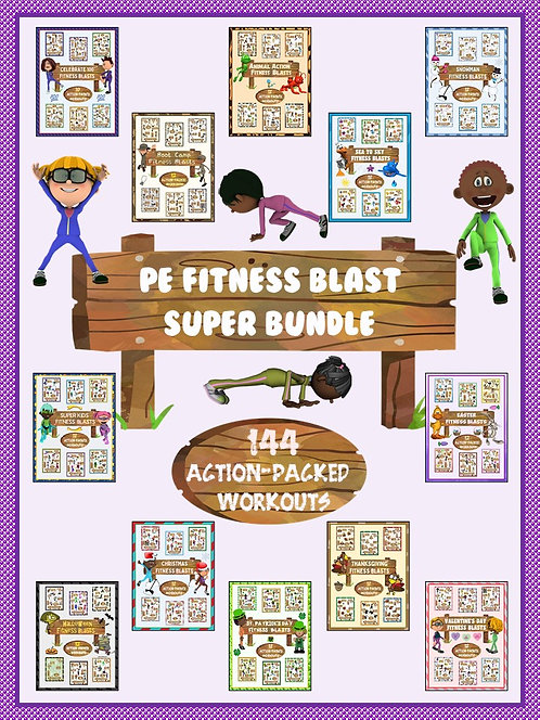PE Fitness Blast SUPER BUNDLE- 144 Action Packed Workouts
