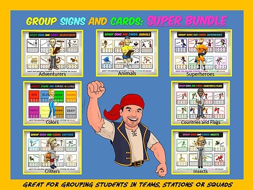 Group Signs and Cards: 7 Set Superbundle