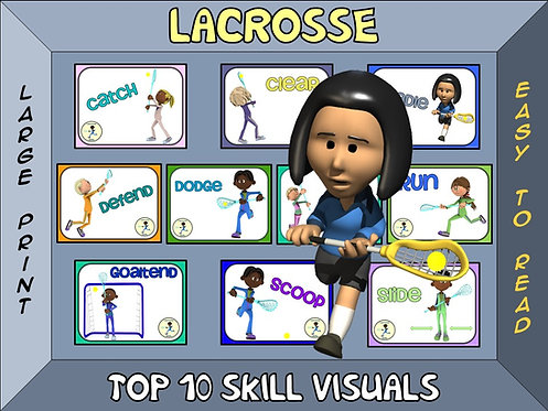 Lacrosse- Top 10 Skill Visuals- Simple Large Print Design