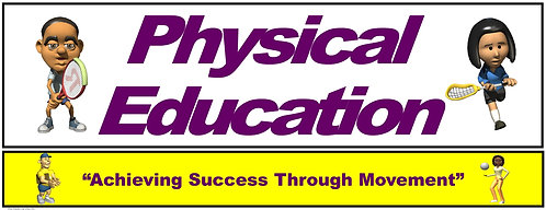 PE Over the Door Banner (Lower Grades): Achieving Success through Movement