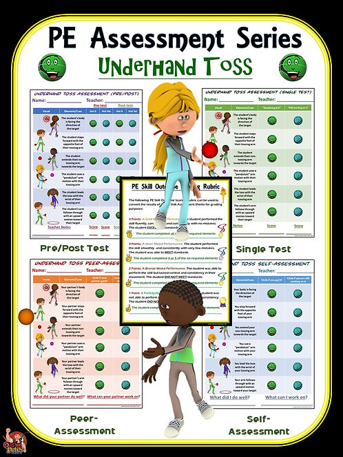 PE Assessment Series: Underhand Toss- 4 Versions