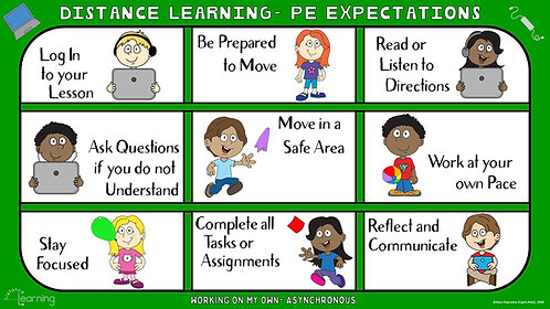 COVID-19 Visual Series- Distance Learning- PE Expectations (Asynchronous)