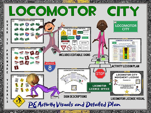Locomotor City- PE Activity Visuals and Detailed Plan