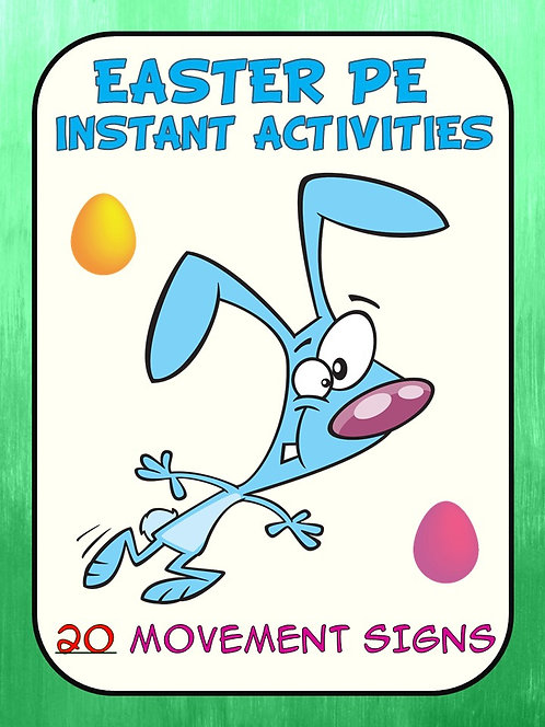 Easter PE Instant Activities- 20 Movement Signs