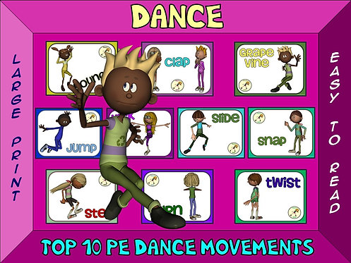 Dance- Top 10 Movement Visuals- Simple Large Print Design