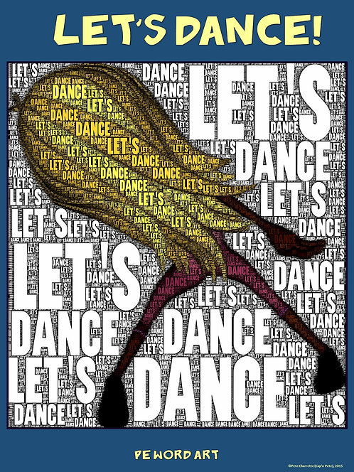 "PE Word Art Poster: ""Let's Dance"""