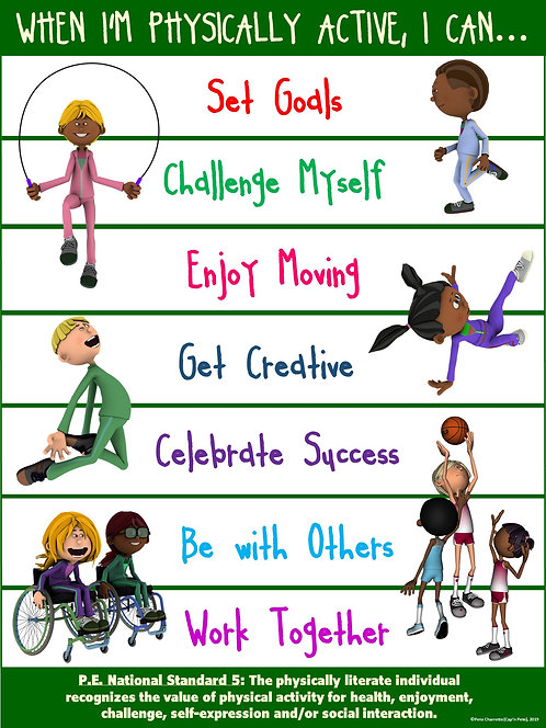 PE Poster: Valuing Physical Activity Series- When I'm Physically Active, I Can…
