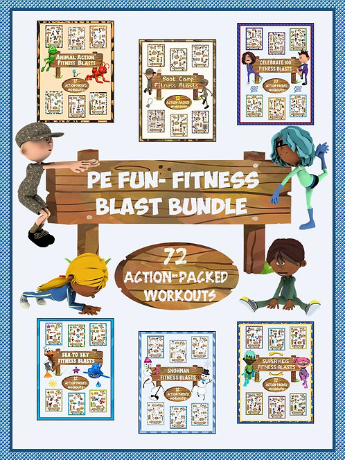 PE Fun: Fitness Blast BUNDLE- 72 Action Packed Workouts