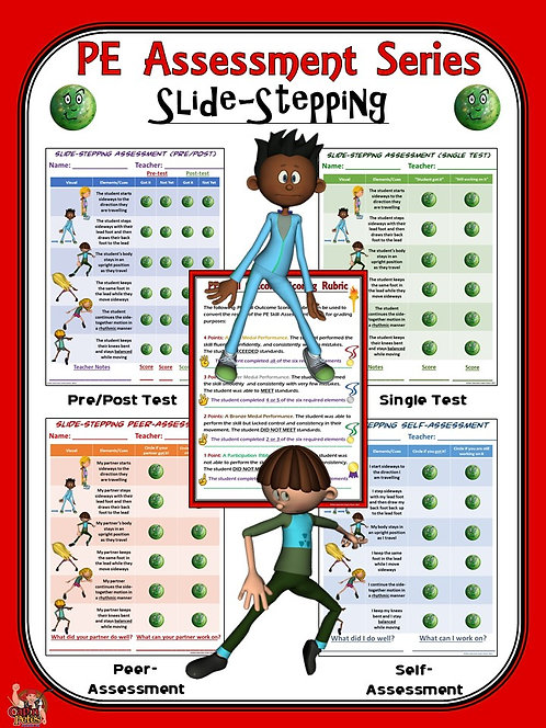 PE Assessment Series: Slide-Stepping- 4 Versions