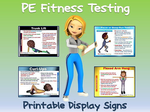 PE Fitness Testing- Printable Display Signs