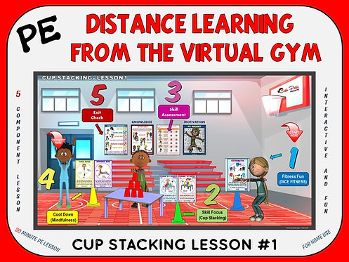 PE Distance Learning from the Virtual Gym- Cup Stacking Lesson #1