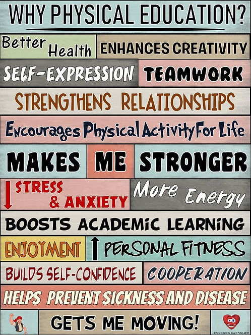 PE Poster: WORDS MATTER- Why Physical Education?
