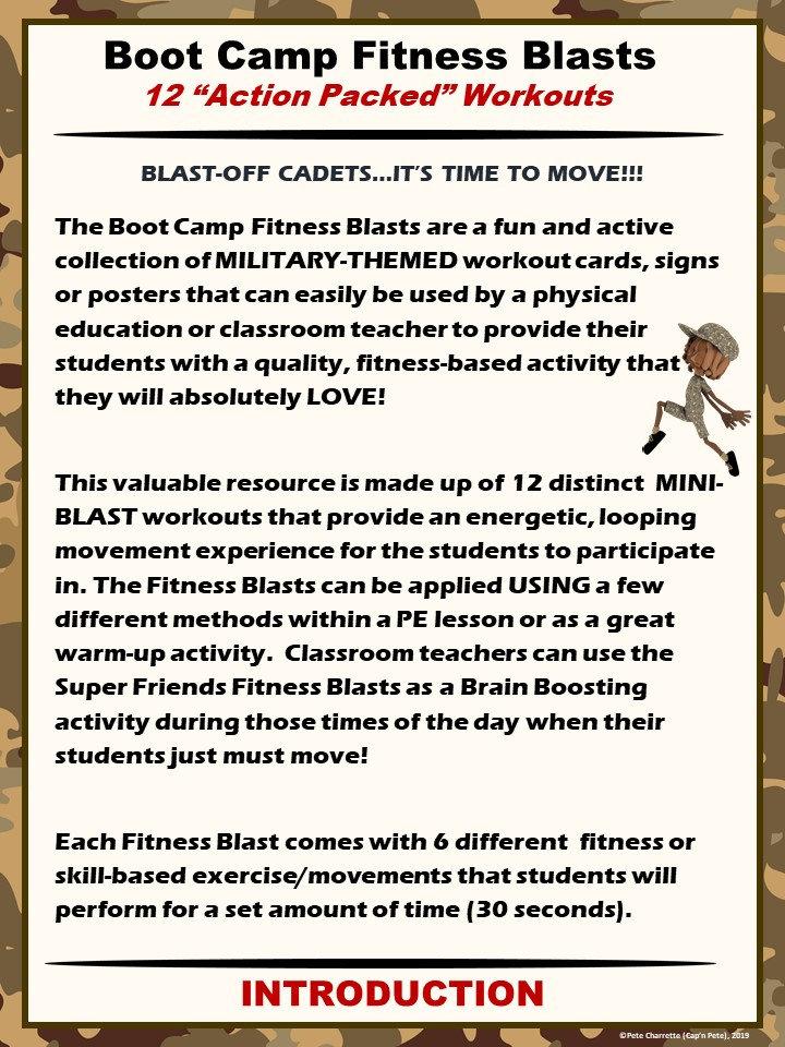Boot Camp Fitness Blasts- 12