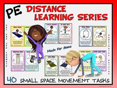 PE Distance Learning Series: 40 Small Space Movement Tasks for Students at Home