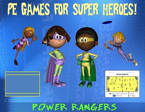 "PE Games for Superheroes!- ""Power Rangers"""