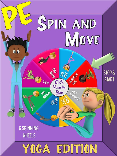 PE Spin and Move- YOGA Edition: 6 Spinning Wheels for Engaging Movement