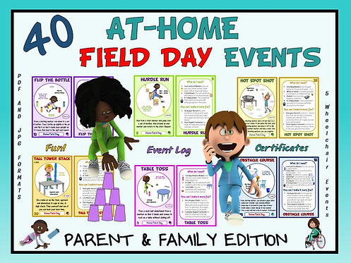40 At-Home Field Day Events- Parent and Family Edition