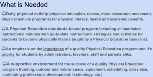 Advocating for Physical Education by Barbara (Kreiss) Grattan