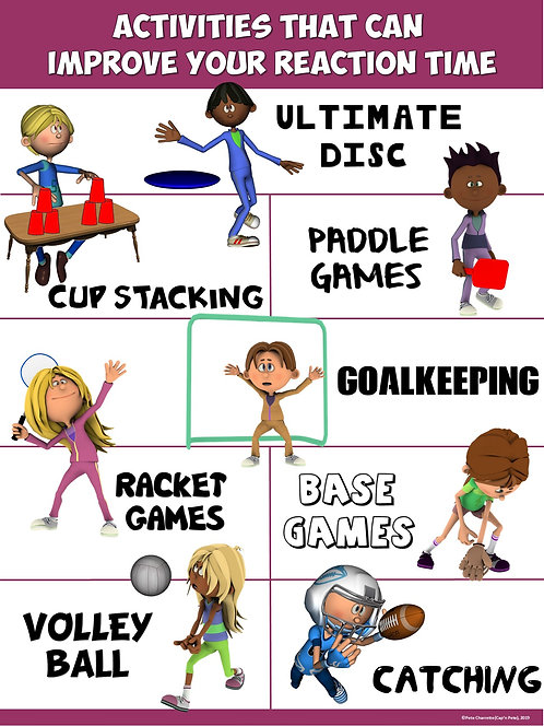 PE Poster: Activities that Can Improve your Reaction Time