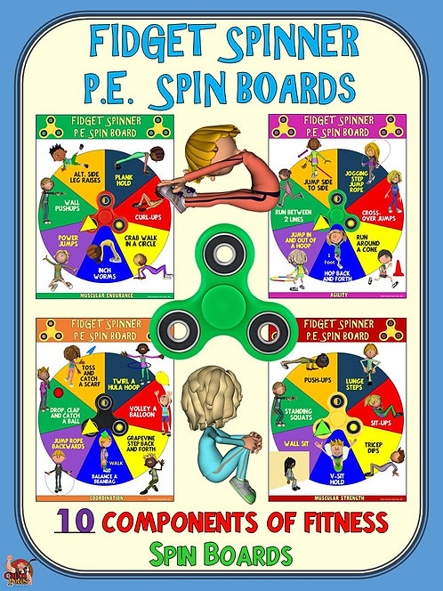 Fidget Spinner PE Spin Boards- 10 Components of Fitness Spin Boards