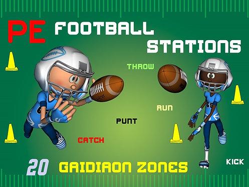 "PE Football Stations- ""20 Gridiron Zones"""