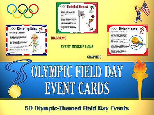 Olympic Field Day Event Cards- 50 Olympic-Themed Field Day Events